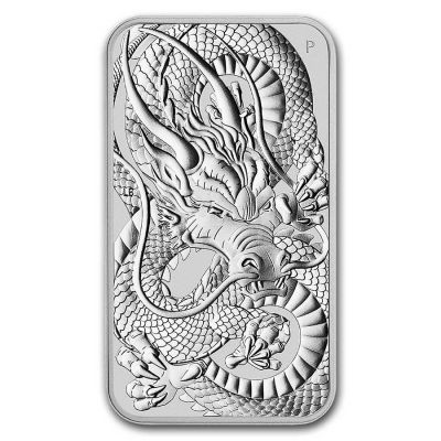 Rectangle Dragon 1 Unze Silber 2021