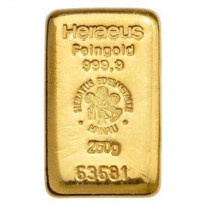 Goldbarren 250 g zur Lagerung