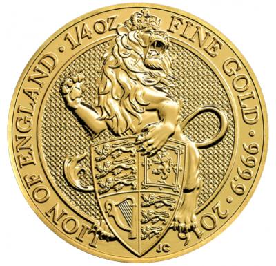 Queens Beasts Lion of England 1/4 Unze 2016