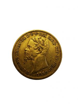 20 Lire Victor Emanuel II Sardinien