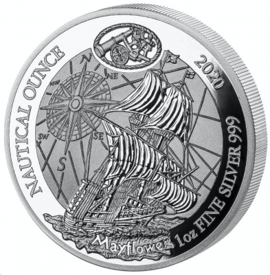 Nautical Ounce Mayflower 1 Unze 2020 Polierte Platte