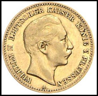 10 Mark Preussen Wilhelm II. J.251