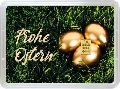 1 Gramm Geschenkbarren Ostern