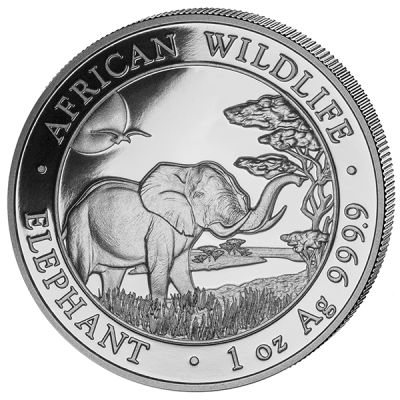 Somalia Elefant 1 Unze Silber
