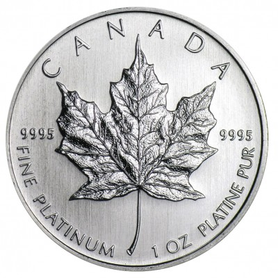 Platin Maple Leaf 1 Unze