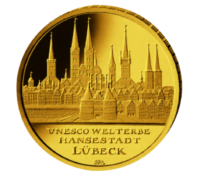 100 Euro Lübeck 2007 1/2 oz Au