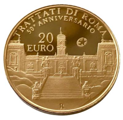 20 Euro Römische Verträge Italien 2007 Au