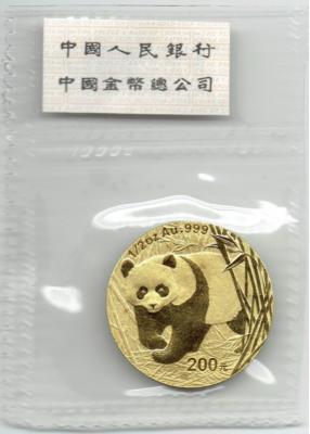 1/2 Unze Panda 2001