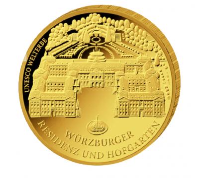 100 Euro Würzburg 2010 1/2 oz Au